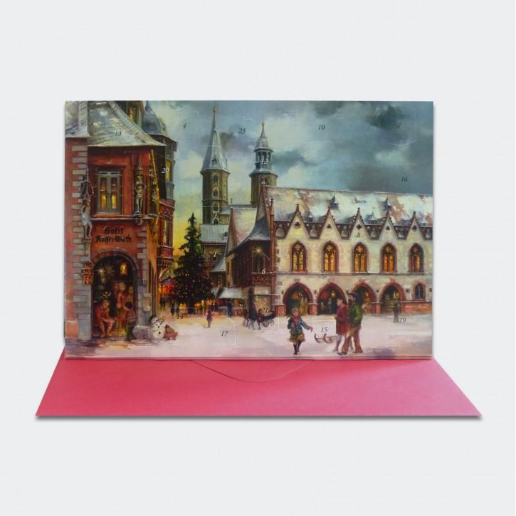 Adventskalender Goslar - Klappkarte mit Umschlag