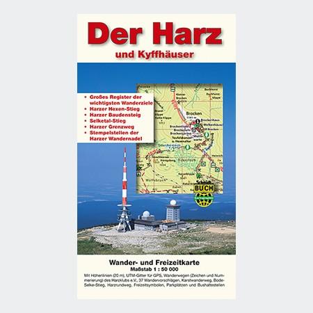 Wanderkarte - Der Harz und Kyffhäuser