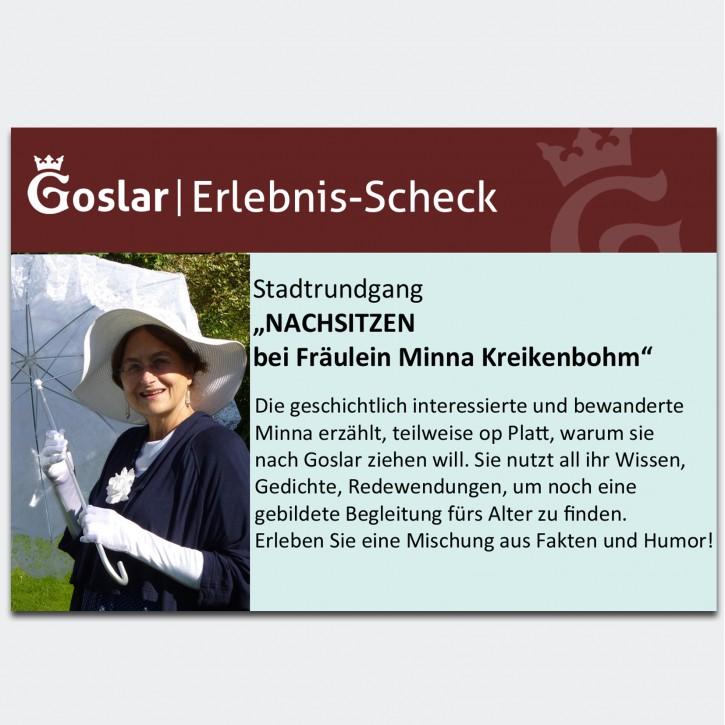Gutschein - Nachsitzen bei Fräulein Minna Kreikenbohm