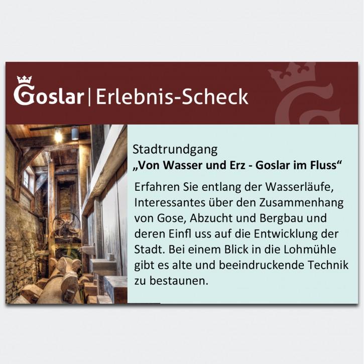 Gutschein - Von Wasser und Erz - Goslar im Fluss