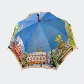 Aquarellschirm mit Goslar-Motiven