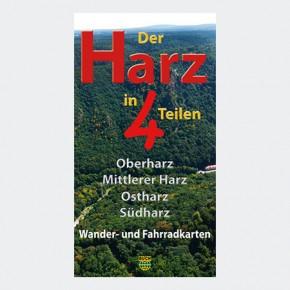 Wanderkartenset Der Harz in 4 Teilen