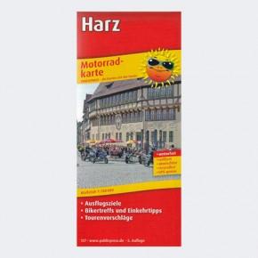 Motorrad-Karte Harz