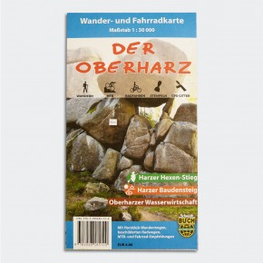 Wander- und Fahrradkarte Der Oberharz