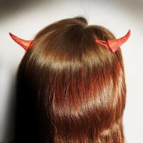 Haarclips Teufelshörner