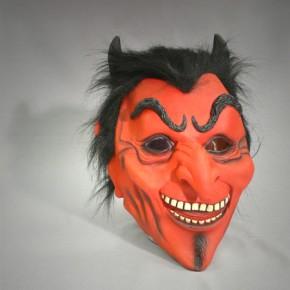 Teufelsmaske mit Haar