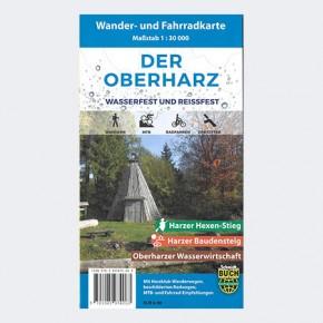 Wander- und Fahrradkarte Der Oberharz - wetterfest