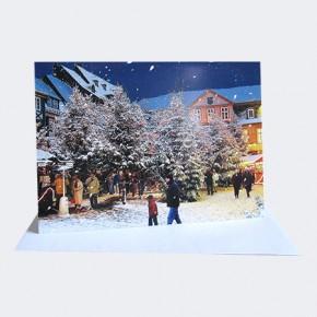 Klappkarte Goslarer Weihnachtswald