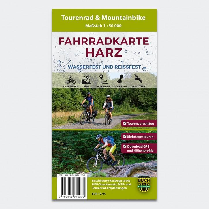 Fahrradkarte Harz