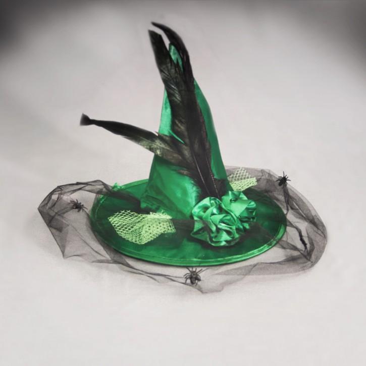 Mini-Hütchen Hexe - grün