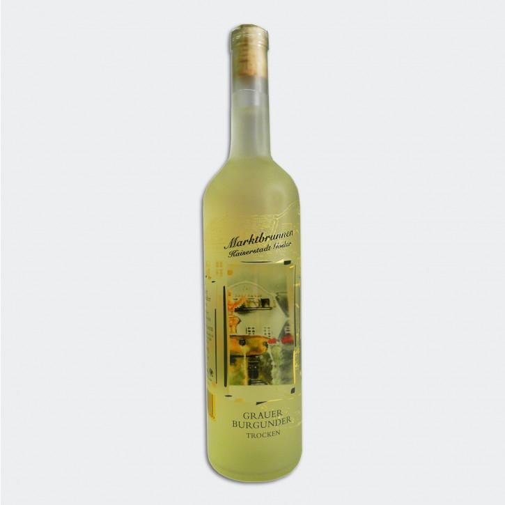 Wein - Fensterbildflasche (Marktbrunnen)